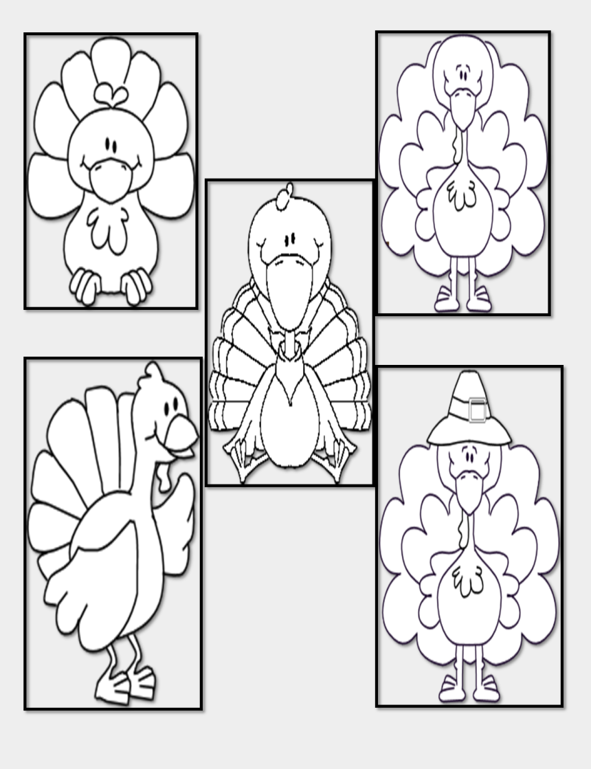 fat turkey clipart, Cartoons - Drawing Turkey Finger - Coloring Book