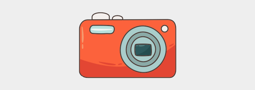 animated camera clipart, Cartoons - Lens Drawing Animated Camera - Camera Vermelha Desenho Png