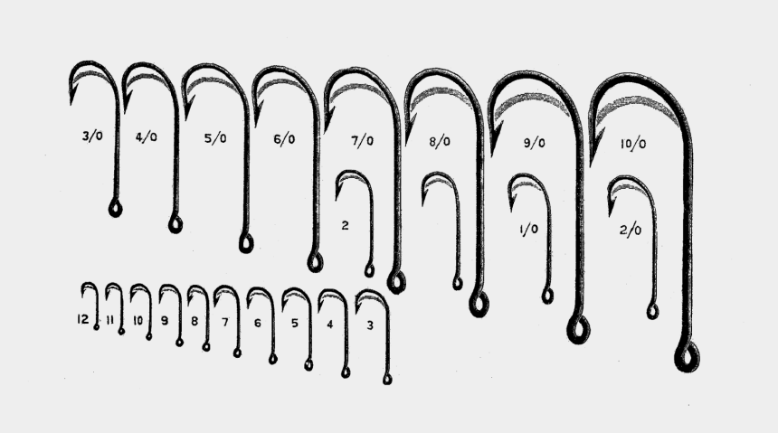 fishing hook clipart free, Cartoons - Free Digital Fishing Clip Art - Us Hook Size Fishing Chart