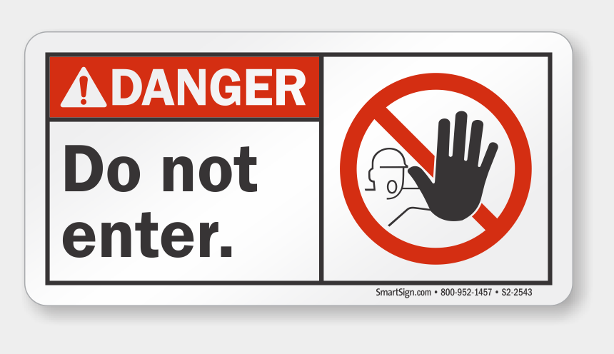 do not enter clipart, Cartoons - Do Not Enter Ansi Danger Sign - Warning Magnetic Field Sign