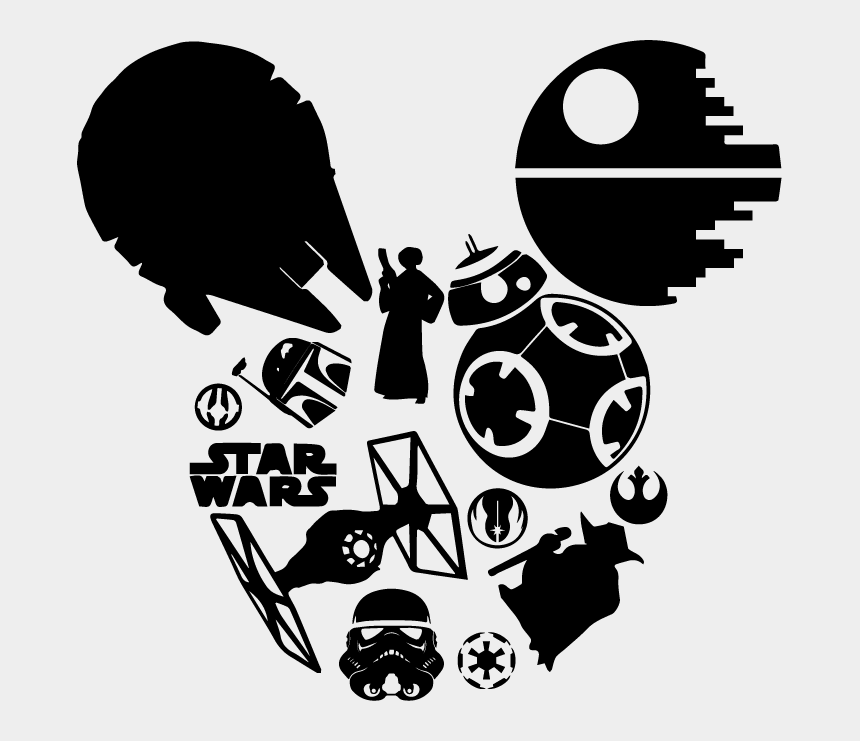 mickey mouse head outline clipart, Cartoons - Https - //www - Sewwhatalicia - Com/wp Wars Mickey - Star Wars Mickey Head