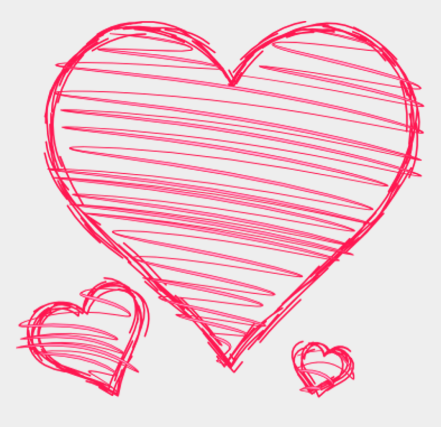 pink heart clipart png, Cartoons - Doodle Hearts Pink Red Handdrawn Pen Drawn Scribble - Drawn Heart