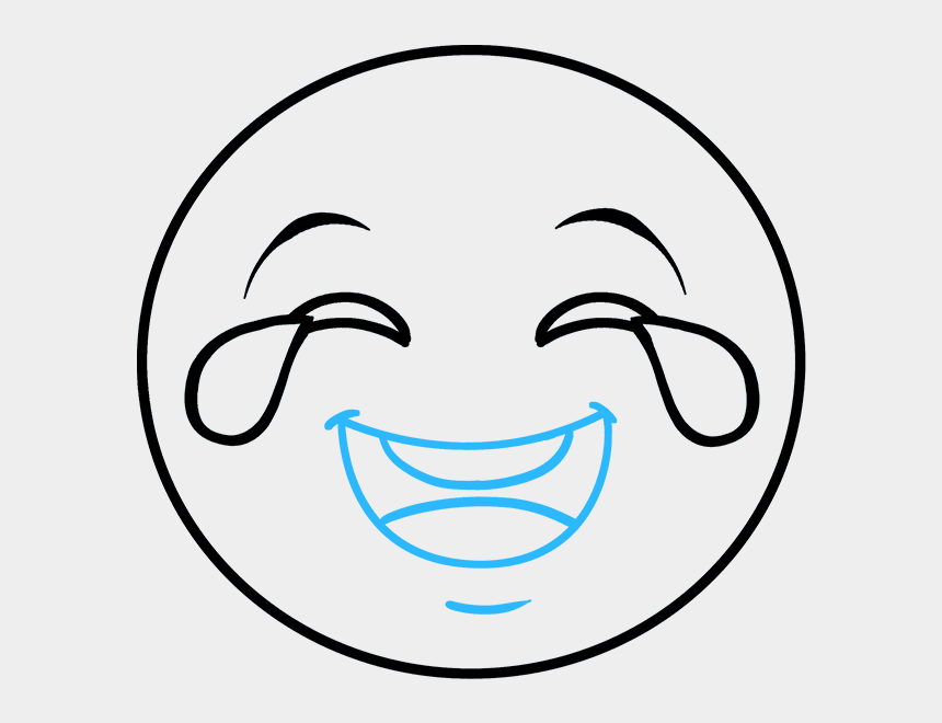 laughing face clipart black and white, Cartoons - Laughter Drawing Laughing Face - Laughing Emoji Drawing