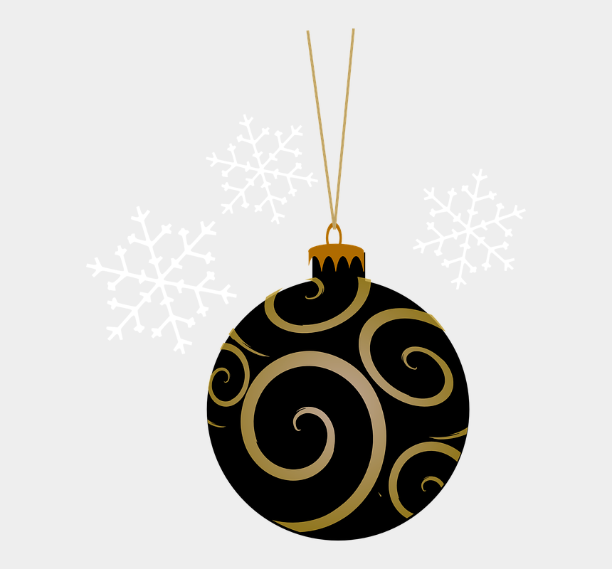 coraline clipart, Cartoons - Bauble, Black, Tree, Round, Gold, Christmas, Holiday - Black Christmas Ornament Png