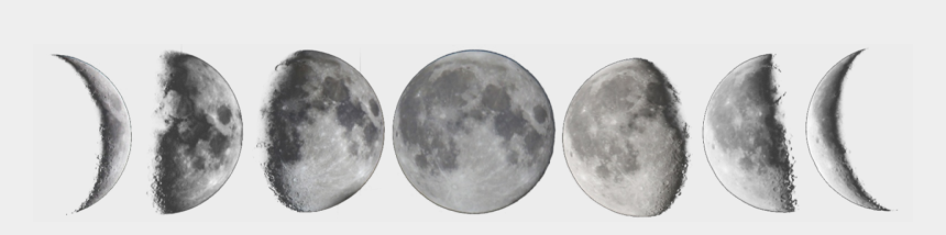 moon phase clipart, Cartoons - Moon Phases Transparent - Moon Phases Png