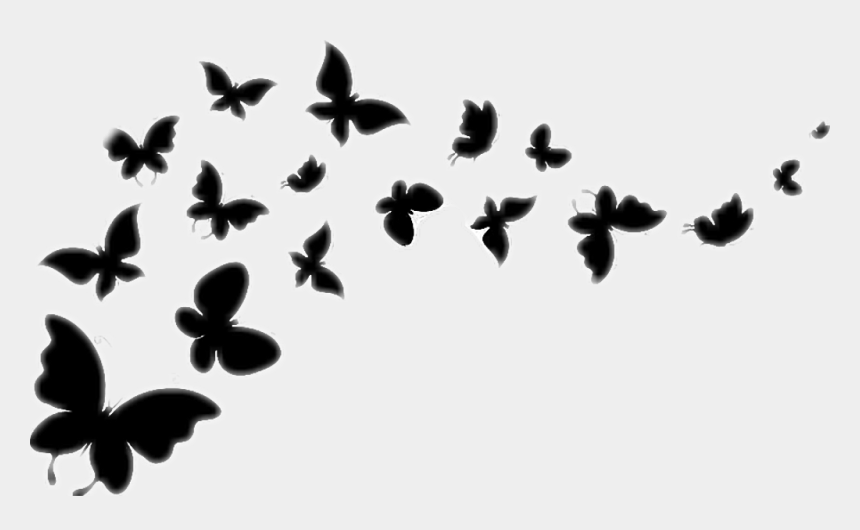 butterfly flying clipart black and white, Cartoons - #butterfly #silhouette #blackandwhite #flying #butterflies - Butterflies Vector