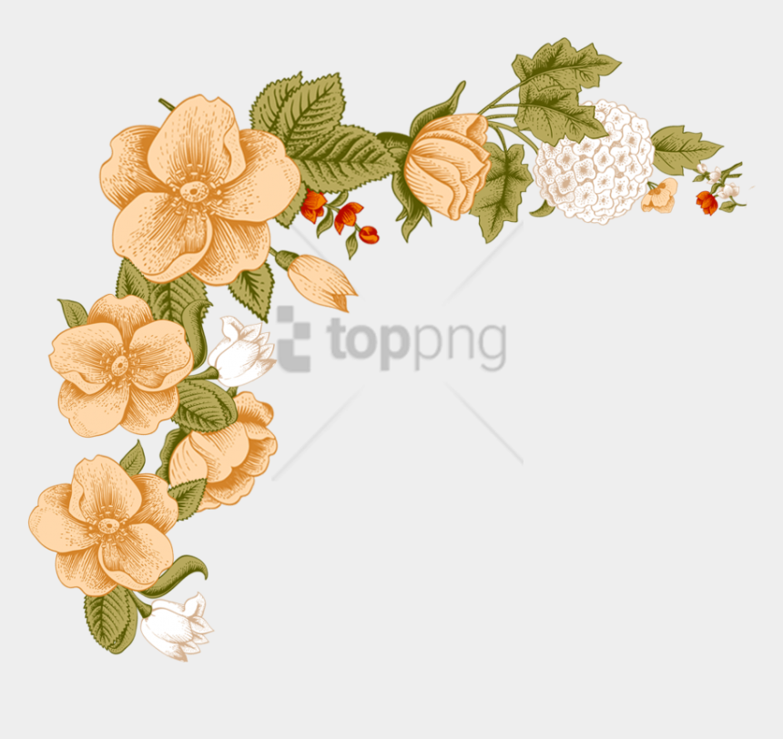 floral clipart designs, Cartoons - Flower Border Png - Flower Photo Frame Design