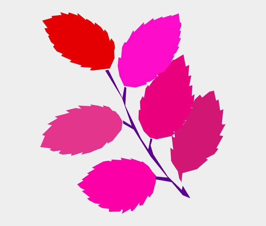 flower leaf clipart, Cartoons - Pink Leaf Clipart - Spring Clip Art
