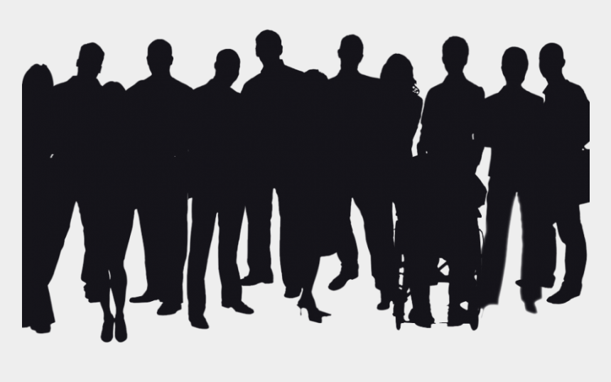 harass clipart, Cartoons - If You're In The Improv Community, And You Have A Facebook - Crowd Of People Silhouette