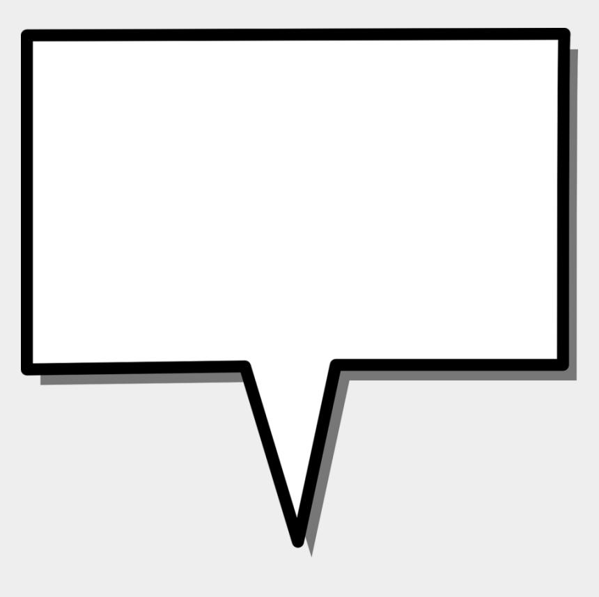 call out box clipart, Cartoons - Speech Box Rectangular Shape Arrow Message Label - Speech Balloon