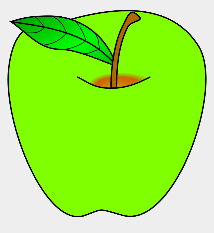 bushel of apples clipart, Cartoons - Green Apple Clip Art