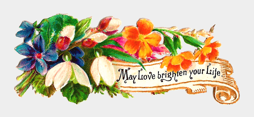 get well flowers clipart, Cartoons - This Is A Very Lovely Victorian Scrap Of Some Beautiful, - Illustration