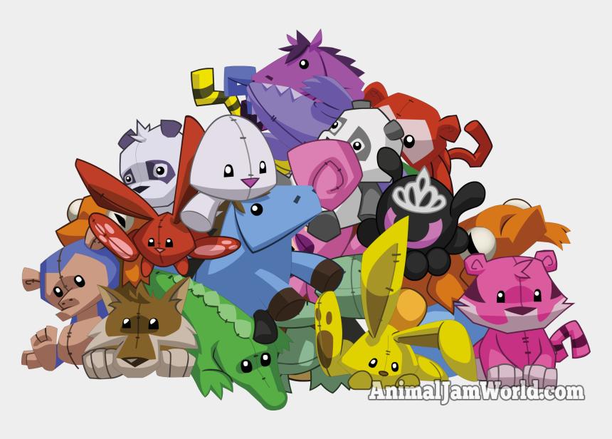 spiked collar clipart, Cartoons - Bk - Transparent Animal Jam Plushie