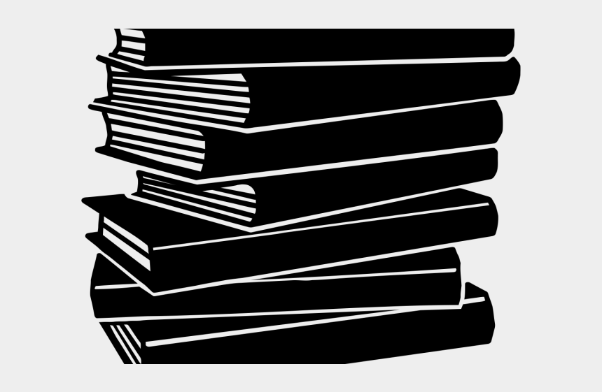 tall stack of books clipart black and white, Cartoons - Black And White Book Clipart - Black Books Clip Art