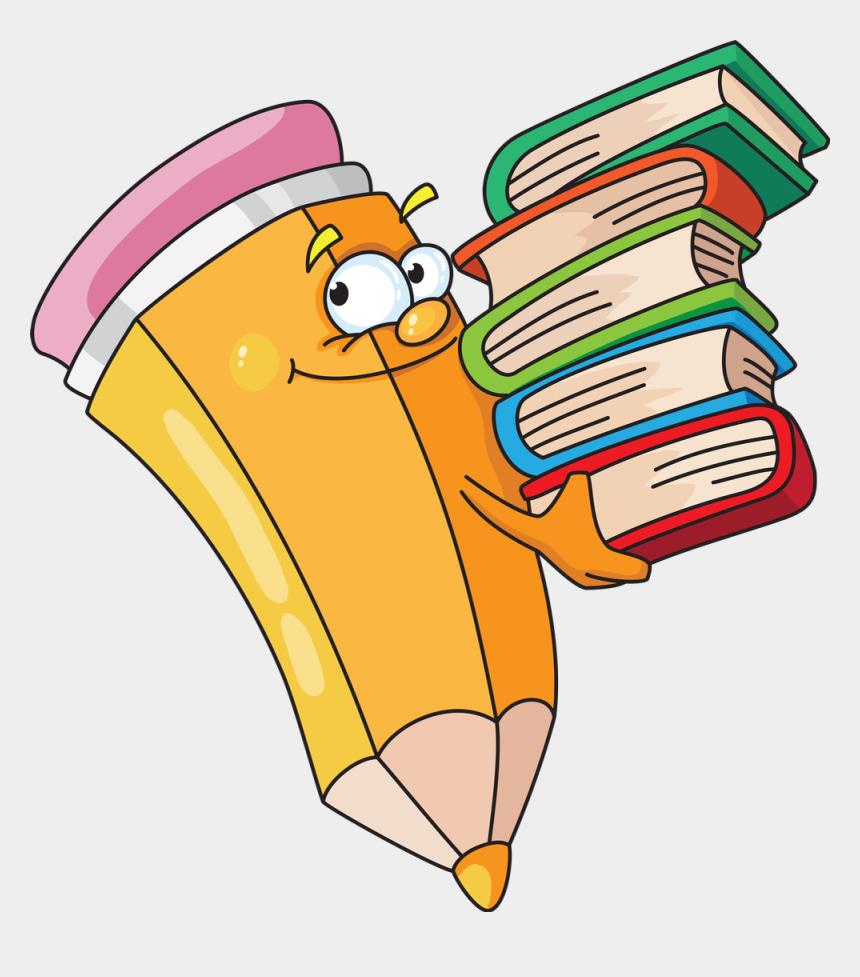 lapiz clipart, Cartoons - Cartoon Pencil Book Drawing - Imagenes De Libros En Caricatura