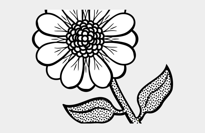 dinasour clipart, Cartoons - Flower Line Art - Black And White Flower