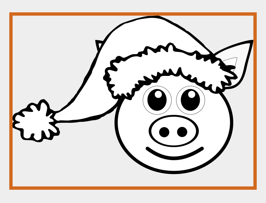pig ears clipart, Cartoons - Appealing Clip On Pics For Ears Coloring Ⓒ - Christmas Pig Color Page