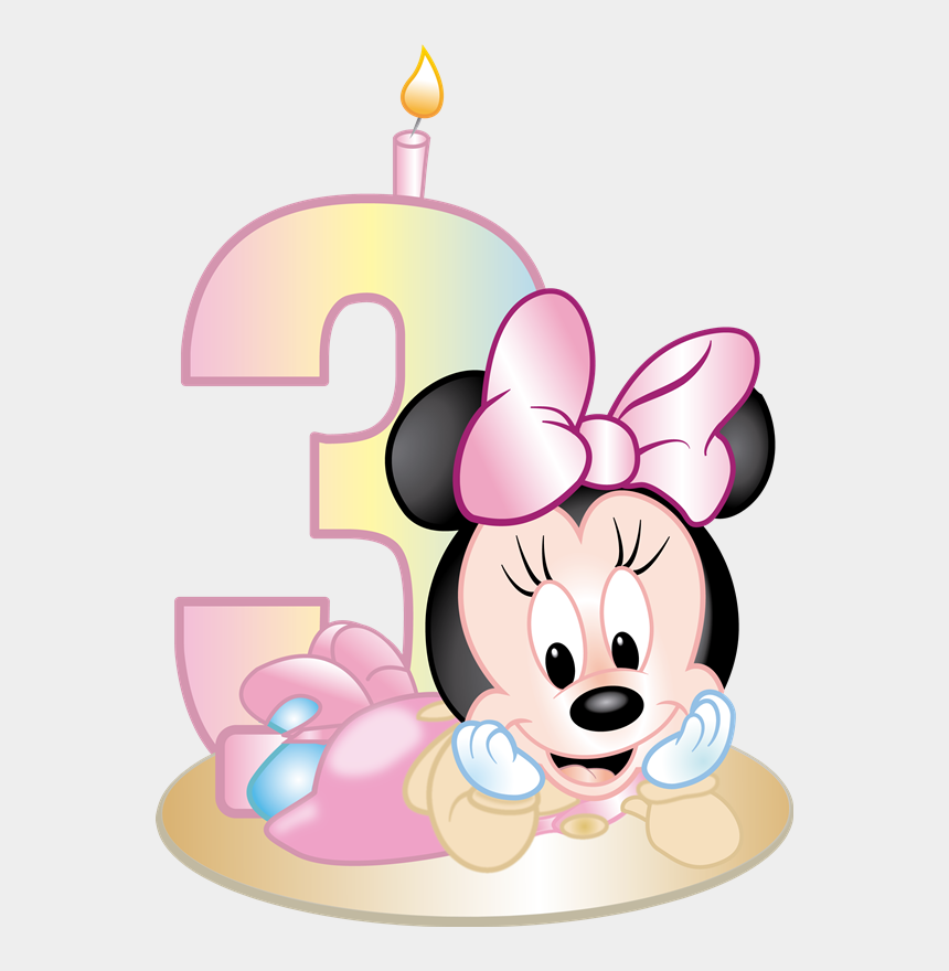 minnie mouse 2nd birthday clipart, Cartoons - Pin By Dulce Govea On Brittanny 3rd Birthday - Minni Mouse Baby Png