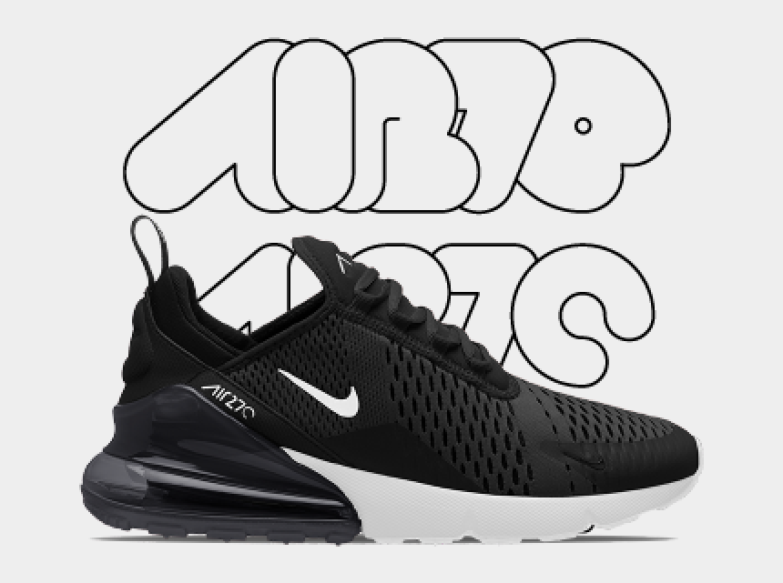designer fashion dd2e3 66d4f Transparent Nikes Swoosh White - Nike Air Max 270, Cliparts ...