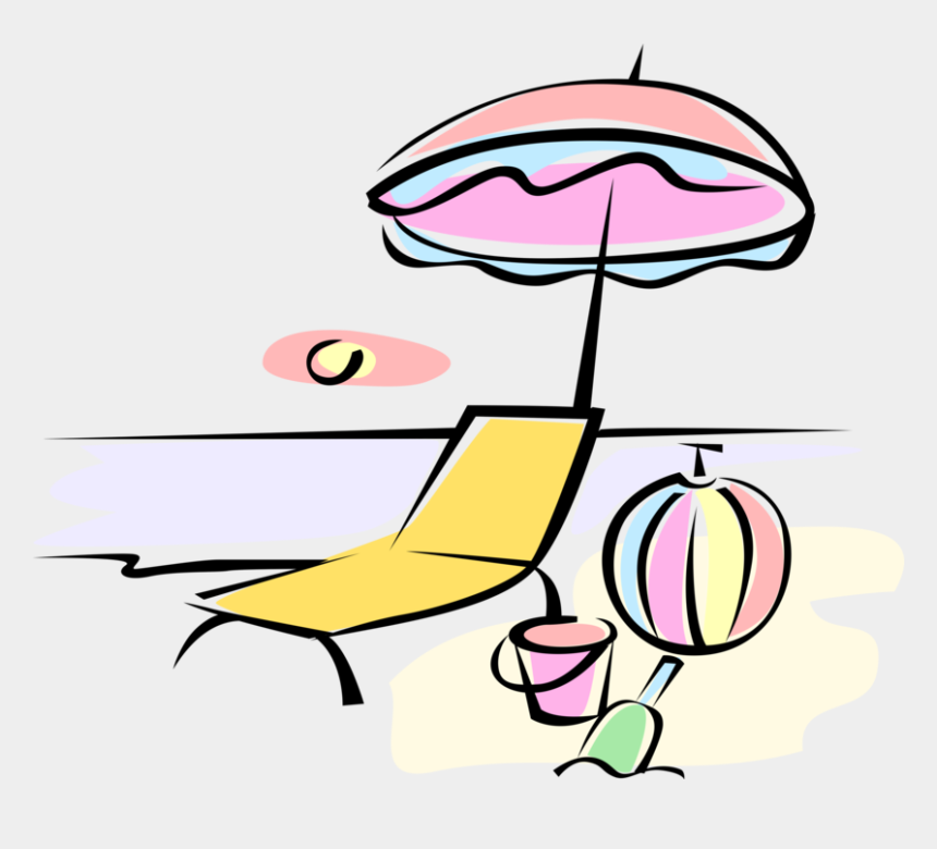beach chair and umbrella clipart, Cartoons - More In Same Style Group