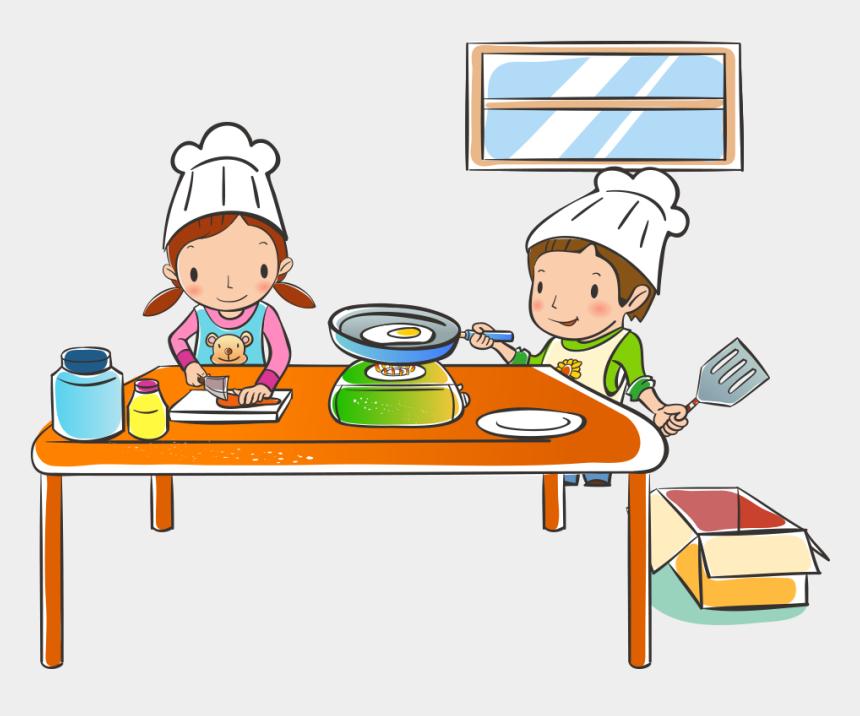 kids in the kitchen clipart, Cartoons - Your Children Learn Their Way Around A Kitchen - Imagenes De Industria Alimentaria Animadas
