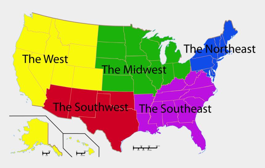 individual states clipart, Cartoons - Us Map Regions Citylondonhotel - 116th Congress Senate Map