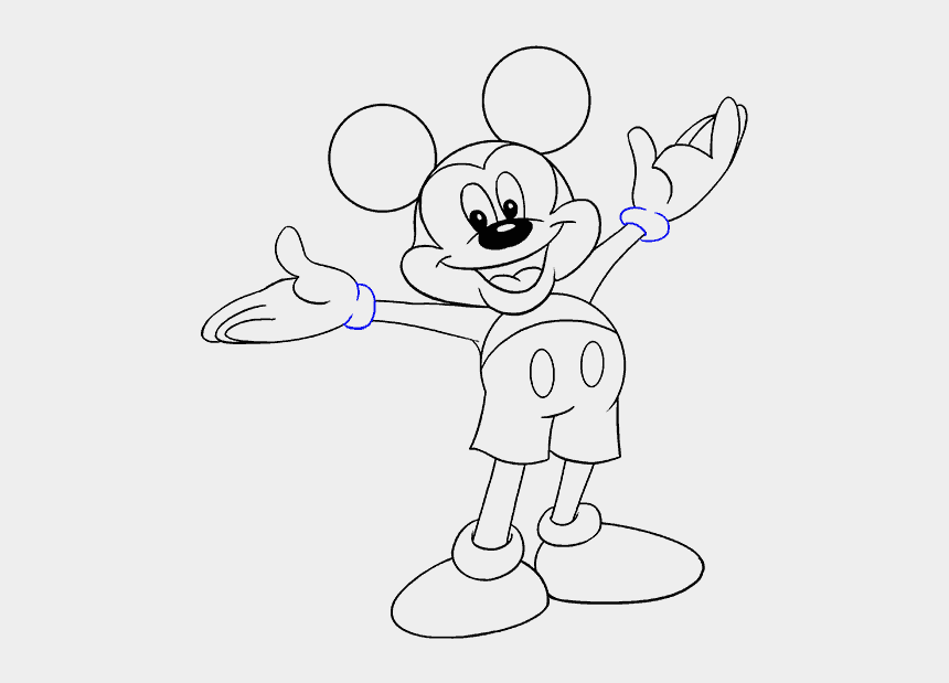 mickey mouse outline clipart, Cartoons - How To Draw Mickey Mouse - Mickey Mouse Wink Drawing