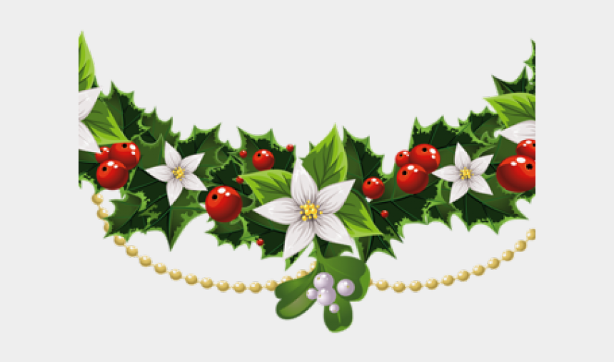 christmas poinsettia clipart, Cartoons - Transparent Christmas Banner Png