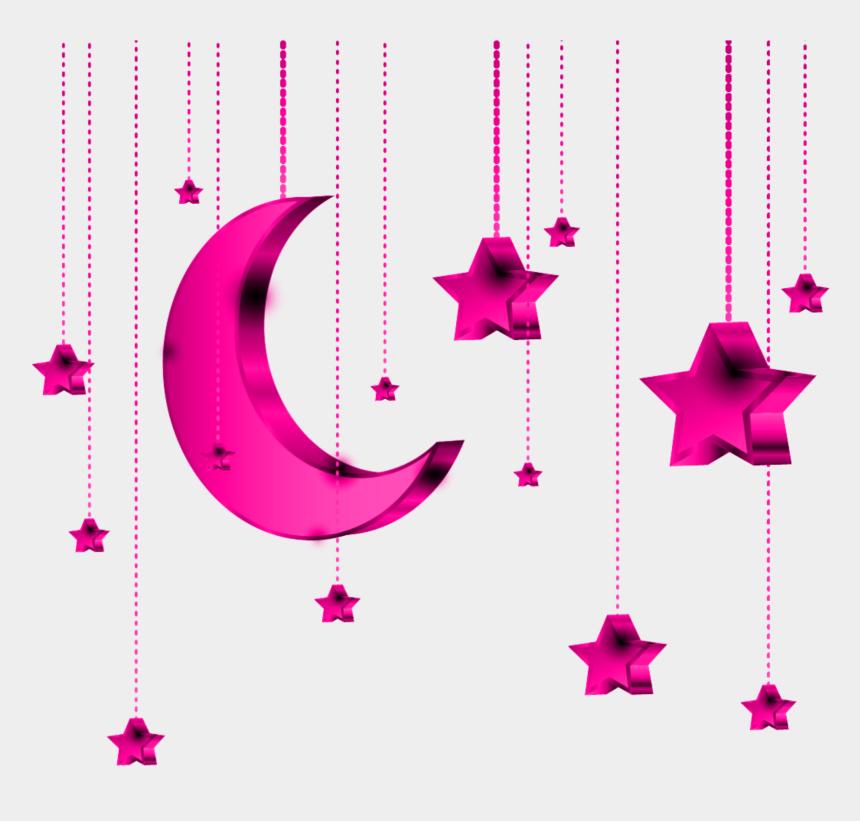hanging stars clipart, Cartoons - Mq Pink Star Stars Moon Hanging - Pink Star Vector Clipart
