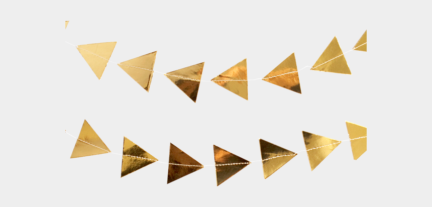 tassel garland clipart, Cartoons - Gold Triangle Garland - Gold Triangles