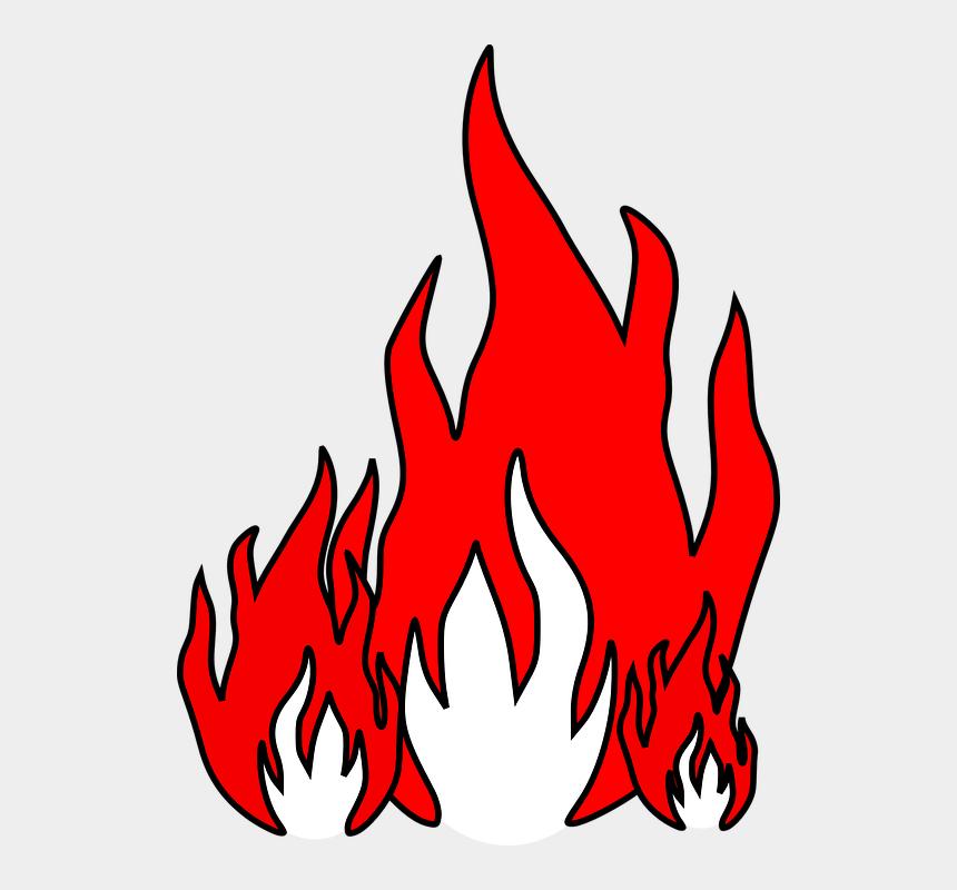 flames border clipart, Cartoons - Accent Vector Flames Illustrator - Fire Clip Art