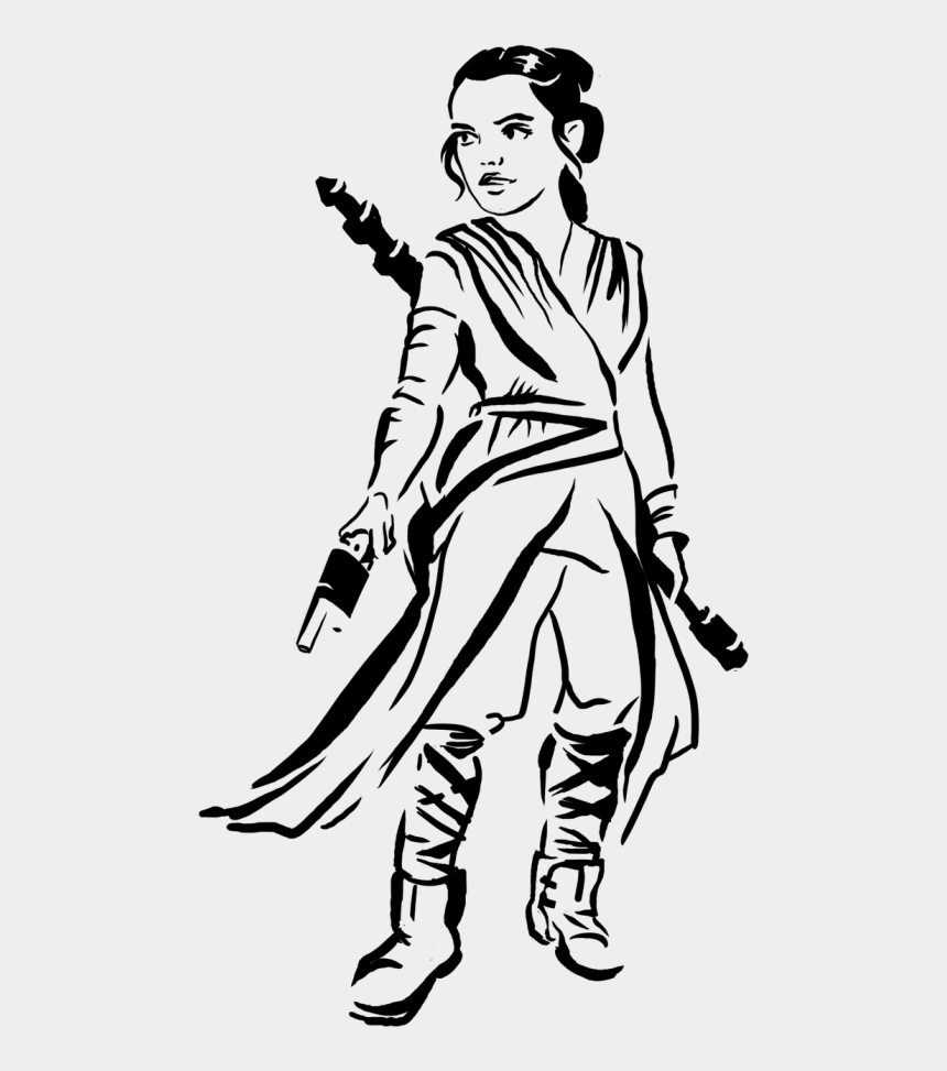 ray gun clipart, Cartoons - Rey Ray Rae - Rey Star Wars Stencil