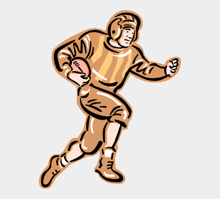 football player tackling clipart, Cartoons - Vector Illustration Of 1950's Vintage Style Old-fashioned - Port Washington Souper Bowl