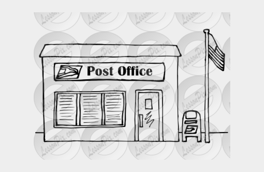 clipart post office, Cartoons - Office Clipart Line Art - Post Office Clipart Black And White