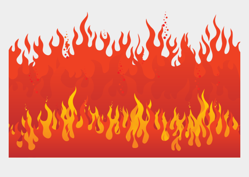 flame vector clipart, Cartoons - Flame Fire - Red Flame Vector Png