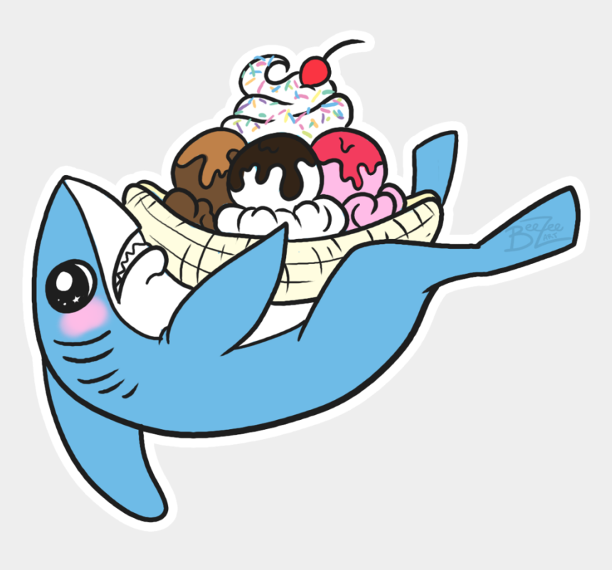 left out clipart, Cartoons - Left Shark Ice Cream = Love By Beezee-art