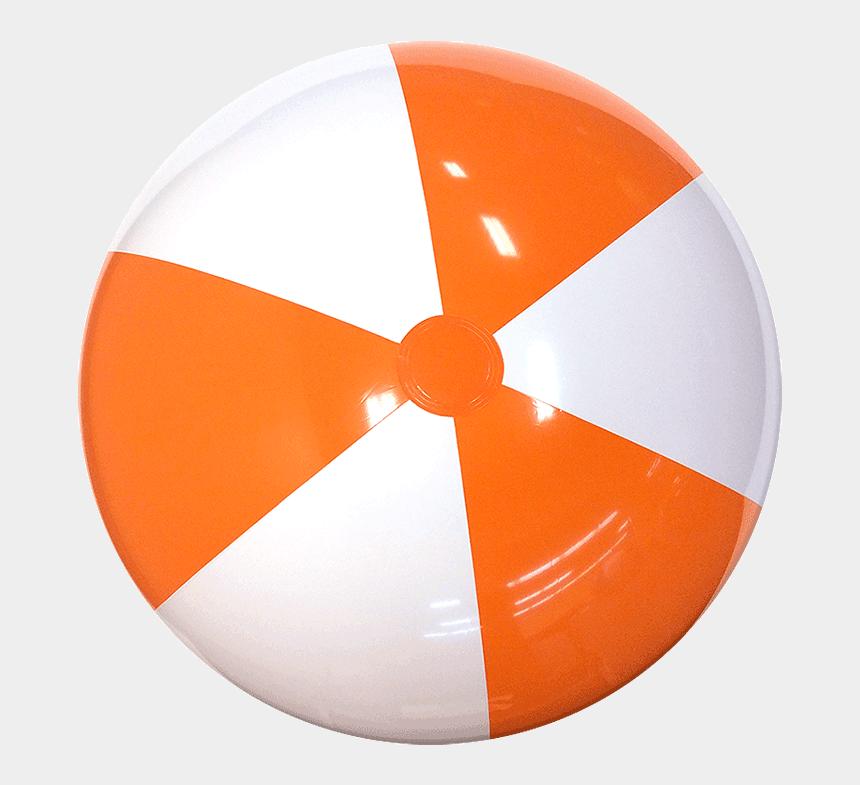 beach balls clipart, Cartoons - Beach Balls Png - Orange And White Beach Ball