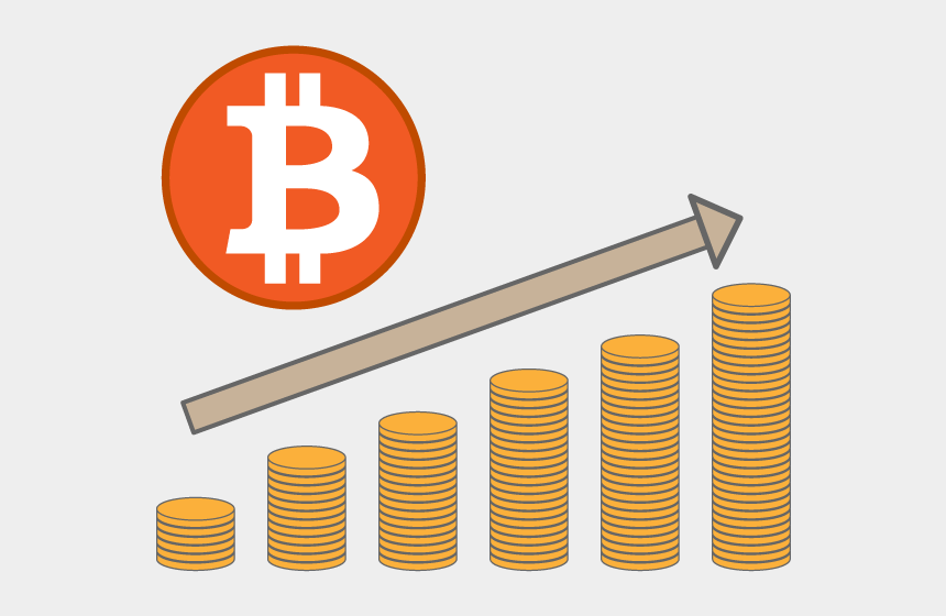 value clipart, Cartoons - Rising / Free / Illustration / Image / Icon / Picture - Bitcoin Png