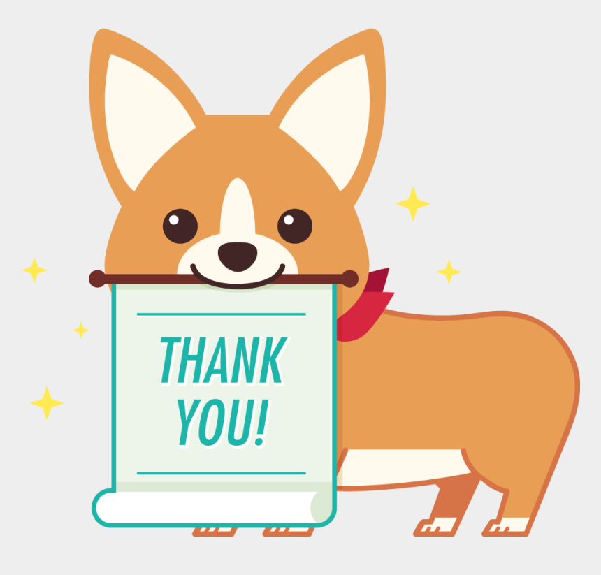 thank you for your order clipart, Cartoons - Thank You Deeply For Your Order - Corgi Saying Thank You