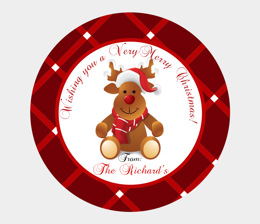 christmas clipart for labels, Cartoons - $6 - - Christmas Gift Card