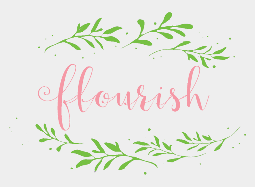 calligraphy flourish clipart, Cartoons - Flourish Ladies Ministry - Calligraphy
