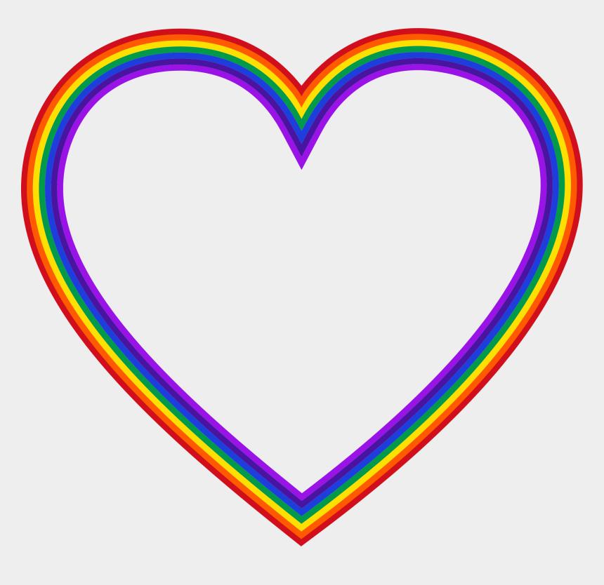 sun rainbow clipart, Cartoons - Clipart Sun Heart - Rainbow Heart No Background