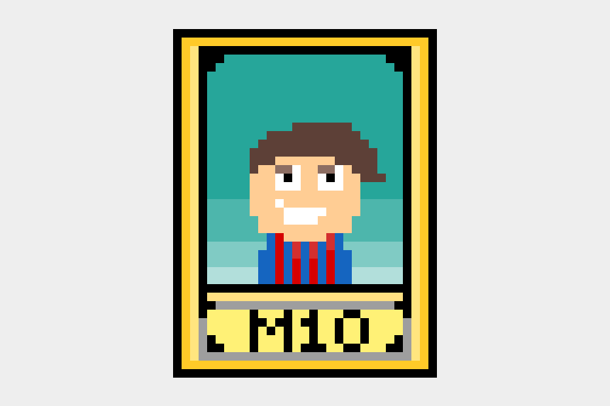 lionel messi clipart, Cartoons - #2 Lionel Messi Soccer Player Card - Cartoon
