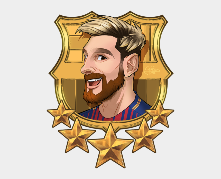 lionel messi clipart, Cartoons - Commission For @nikolaspascal Of Some Ballsport Boys - Fc Barcelona