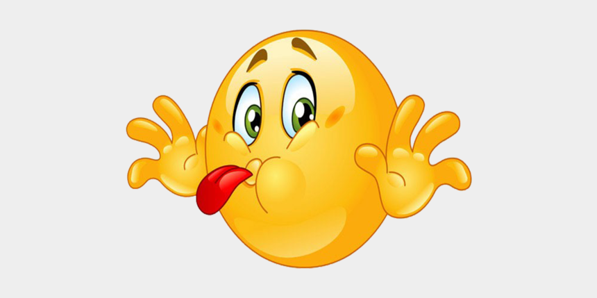tongue clipart, Cartoons - Emoticon Cute Joke Smiley Face Whatsapp Tongue - Emoji Sticking Out Tongue