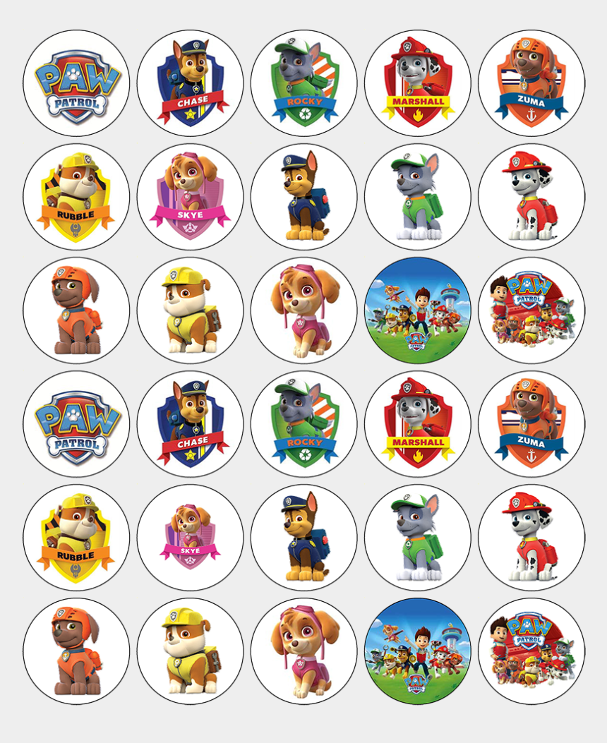 paw patrol badge clip art, Cartoons - Dave And Ava Cupcake Toppers