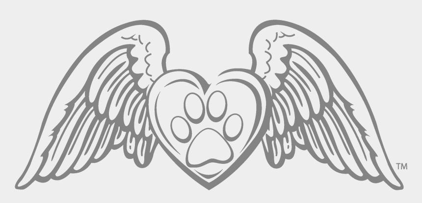 paw patrol badge clip art, Cartoons - Paw Print Drawing - Angel Wings No Background