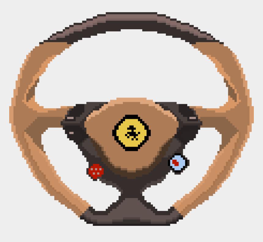 steering wheel clipart, Cartoons - Ferrari Car Speed Pixelart Pixel Art Pinterest Ⓒ - Pixel Steering Wheel