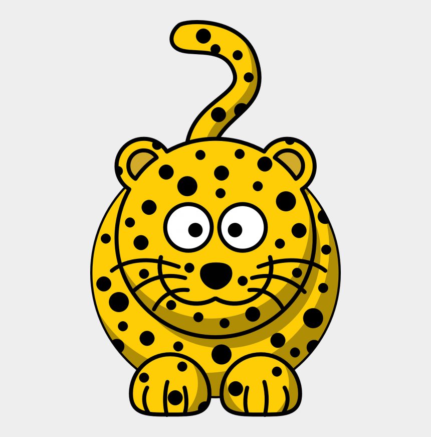 cats clipart, Cartoons - Spotted Leopard - Jungle Animal Clipart