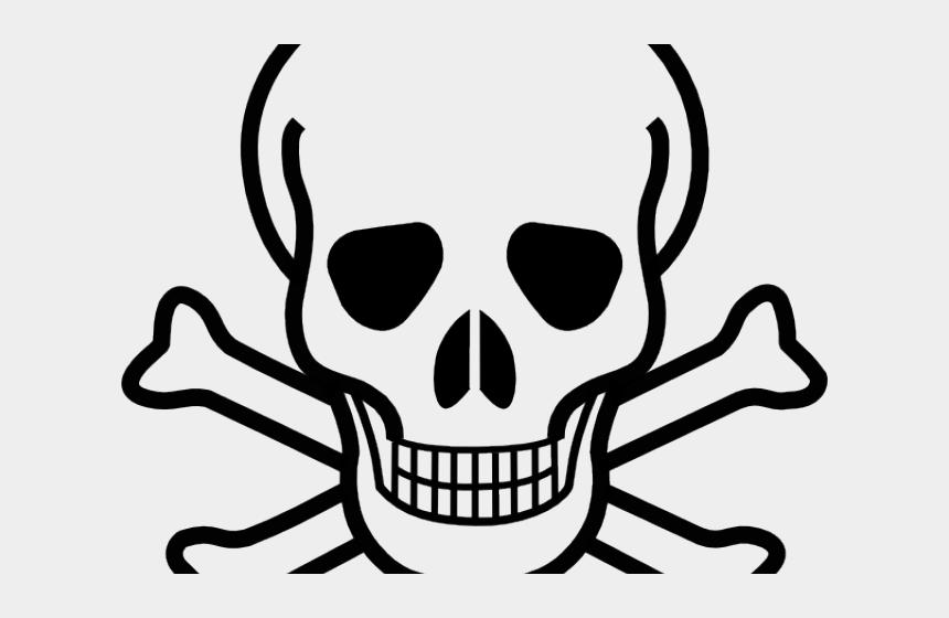 clip art halloween, Cartoons - Ssckull Clipart Halloween - Skull With Two Bones